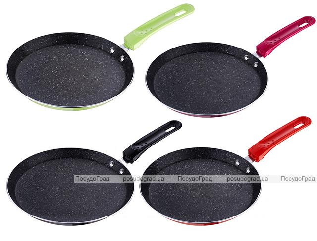 Сковорода блинная Wellberg Flat Pan Ø24см с антипригарным покрытием