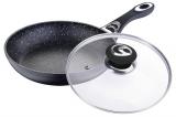 Сковорода Wellberg Titan Marble Ø26см з кришкою і антипригарним покриттям