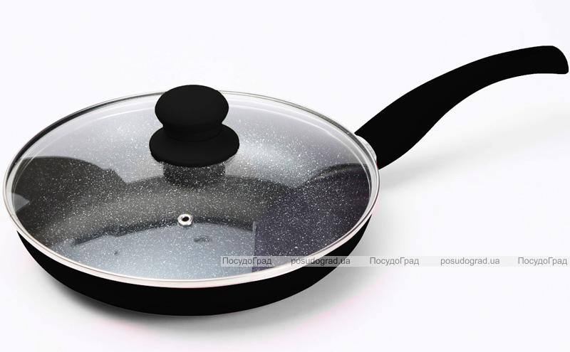 Сковорода Wellberg Argent Ø28см с мраморным антипригарным покрытием