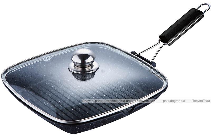 Сковорода-гриль Wellberg Aquileia 28х28см со стеклянной крышкой