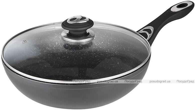 Сковорода-вок Wellberg Titan Marble Ø32см с антипригарным покрытием