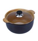 Каструля Wellberg Vigoroso Brown 2.5л з вогнетривкої кераміки зі скляною кришкою