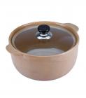 Каструля Wellberg Vigoroso Beige 2.5л з вогнетривкої кераміки зі скляною кришкою