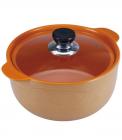 Каструля Wellberg Vigoroso Orange 3.5л з вогнетривкої кераміки зі скляною кришкою