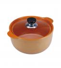 Каструля Wellberg Vigoroso Orange 1.8л з вогнетривкої кераміки зі скляною кришкою