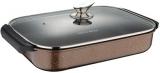 Сотейник Wellberg Kasian Brown 32х25см з мармуровим покриттям