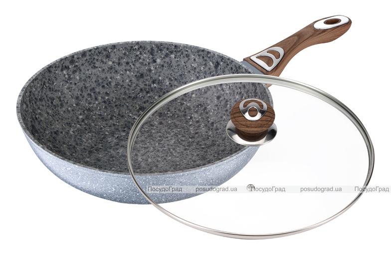 Сковорода-вок Wellberg Sogdiana Ø28см со стеклянной крышкой