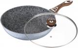 Сковорода-вок Wellberg Sogdiana Ø32см со стеклянной крышкой