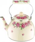Чайник эмалированный Wellberg Pink Roses 4л, индукция