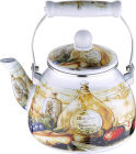 Чайник эмалированный Wellberg Gardenia 2.8л