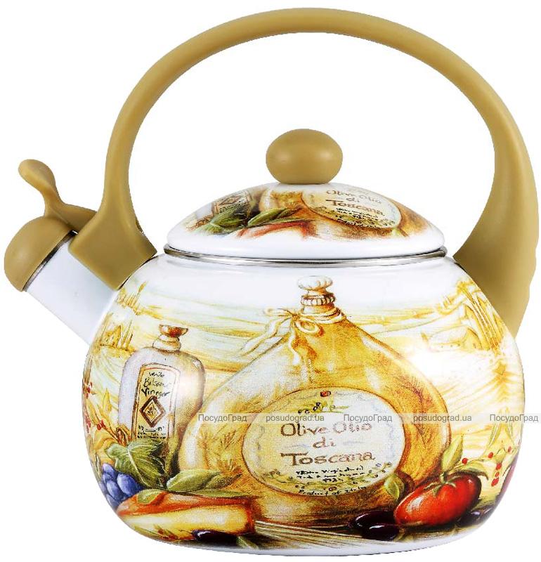 Чайник эмалированный Wellberg Gardenia-C 2.2л цветной со свистком