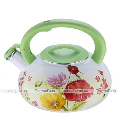 Чайник эмалированный Wellberg Enamel Green 3,2л со свистком