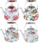 Чайник эмалированный Wellberg Garden 4л, индукция