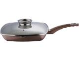 Сковорода-гриль Wellberg Carla 28см с аромо-крышкой и керамическим покрытием