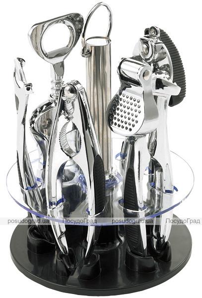 Набор кухонный Wellberg на подставке 6 предметов Зеркальный барсет