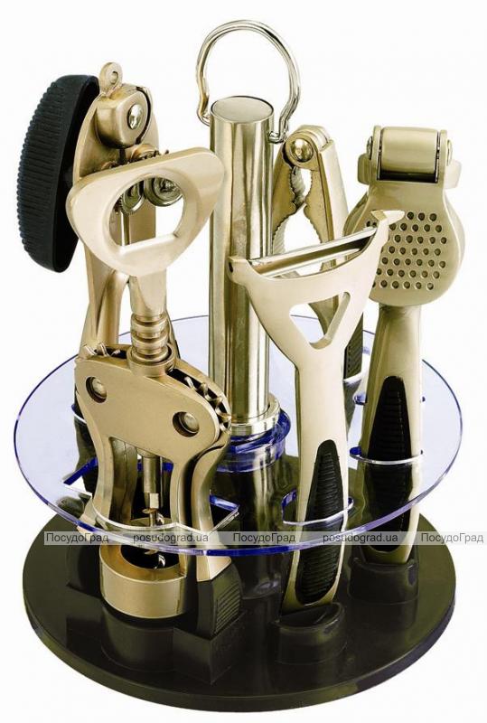 Набор кухонный Wellberg на подставке 6 предметов Матовый барсет
