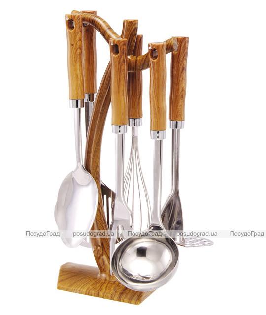 Кухонный набор Wellberg Wood 7 предметов, нержавейка + пластик 5