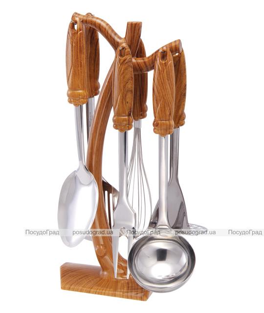 Кухонный набор Wellberg Wood 7 предметов, нержавейка + пластик 6