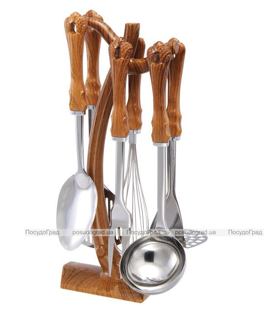 Кухонный набор Wellberg Wood 7 предметов, нержавейка + пластик 8