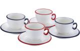 Чайный фарфоровый набор Infinito 250мл 8 предметов