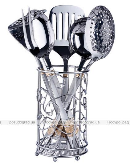 Кухонный набор Wellberg  Alicante-4053 7 предметов в металлическом стакане
