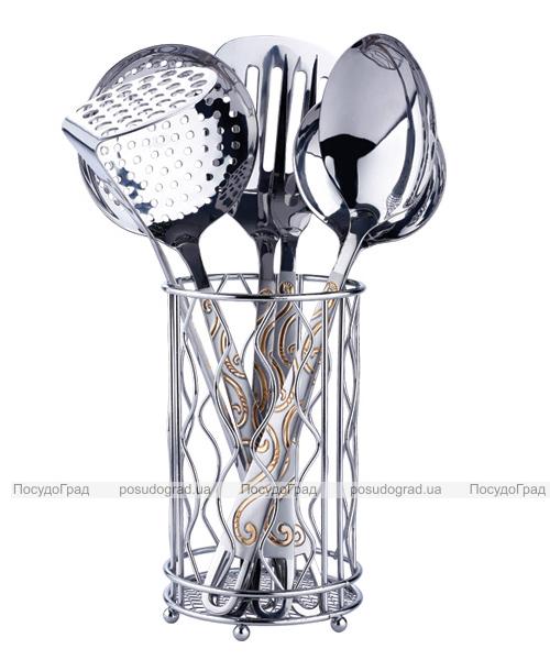 Кухонный набор Wellberg  Alicante-4054 7 предметов в металлическом стакане