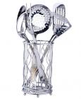 Кухонный набор Wellberg  Alicante-4055 7 предметов в металлическом стакане