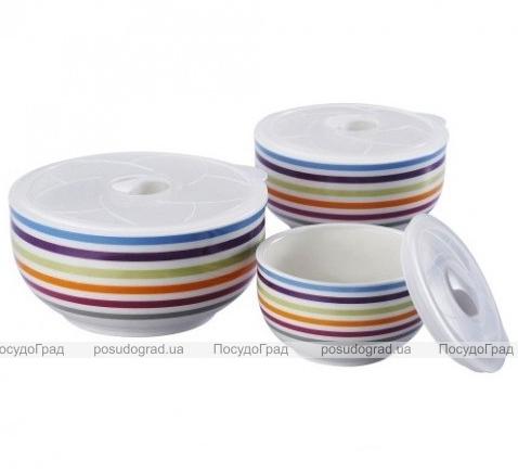 Фарфоровые емкости для продуктов Sempre I с крышками 3шт