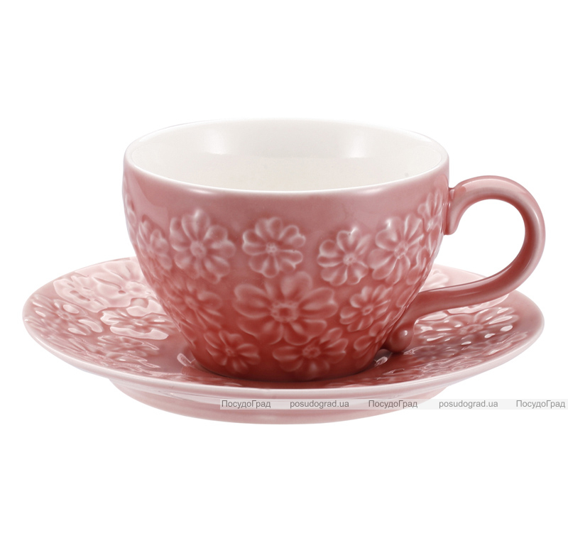 Чайная пара Pink Meadow 200мл чашка и блюдце