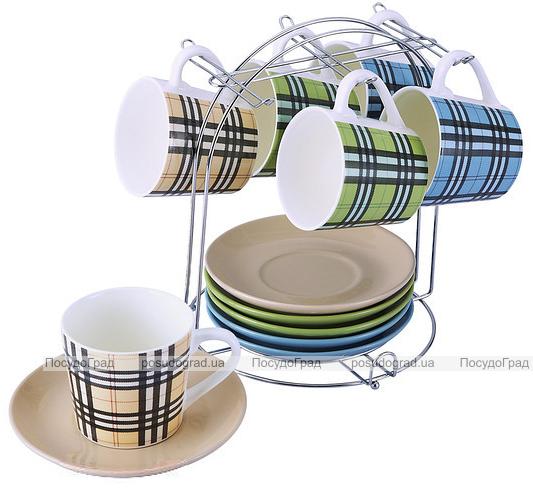 Чайный набор Edinburg 200мл 13 предметов на хромированной подставке