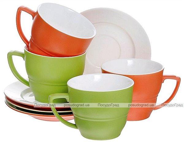 Чайный фарфоровый набор Verano 250мл 8 предметов