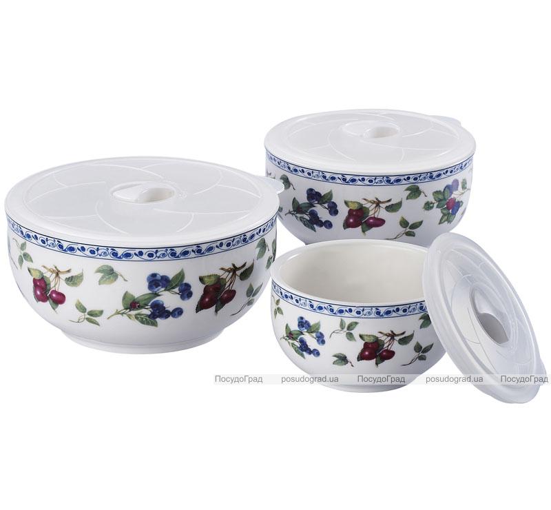 Фарфоровые емкости для продуктов Sempre II с крышками 3шт