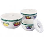 Фарфоровые емкости для продуктов Sempre III с крышками 3шт