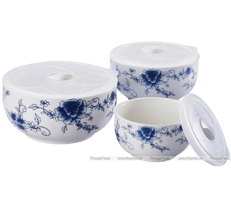 Фарфоровые емкости для продуктов Sempre IV с крышками 3шт