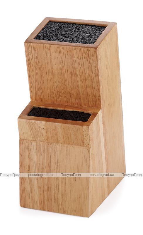 Колода для ножей Wellberg Wood 2 секции полипропиленовое волокно