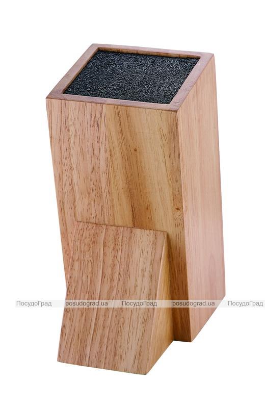 Колода для ножей Wellberg Wood 1 секция полипропиленовое волокно