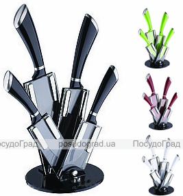 """Набор ножей Wellberg """"Fan Style 2"""" с полимерным покрытием 5 предметов"""