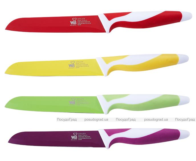 Нож универсальный Wellberg 5036 12,7см Антибактериальное покрытие