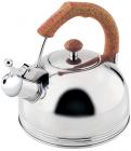 Чайник Wellberg Ergoria 2.3л из нержавеющей стали со свистком