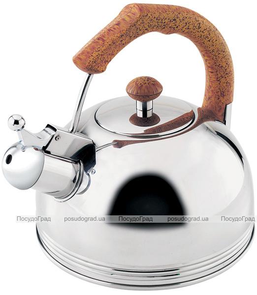 Чайник Wellberg Ergoria 2.3л з нержавіючої сталі зі свистком