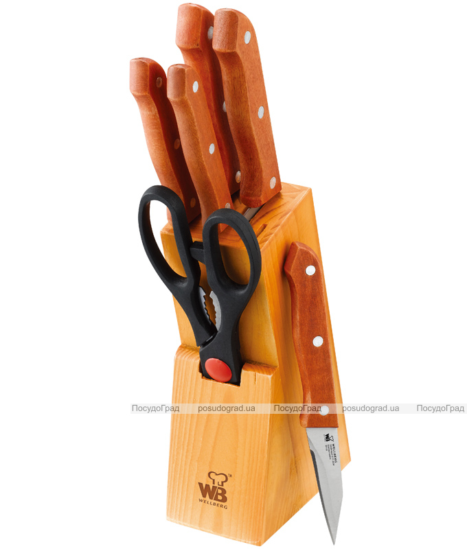 Набор кухонных ножей Wellberg Builefeld-21 7 предметов