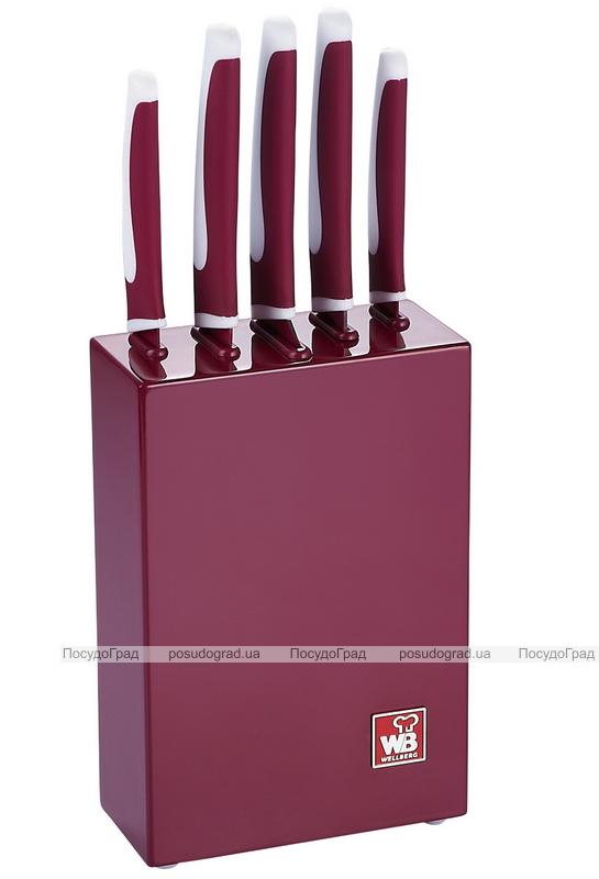 Набор ножей Wellberg Fan Style 6 предметов с керамическим покрытием