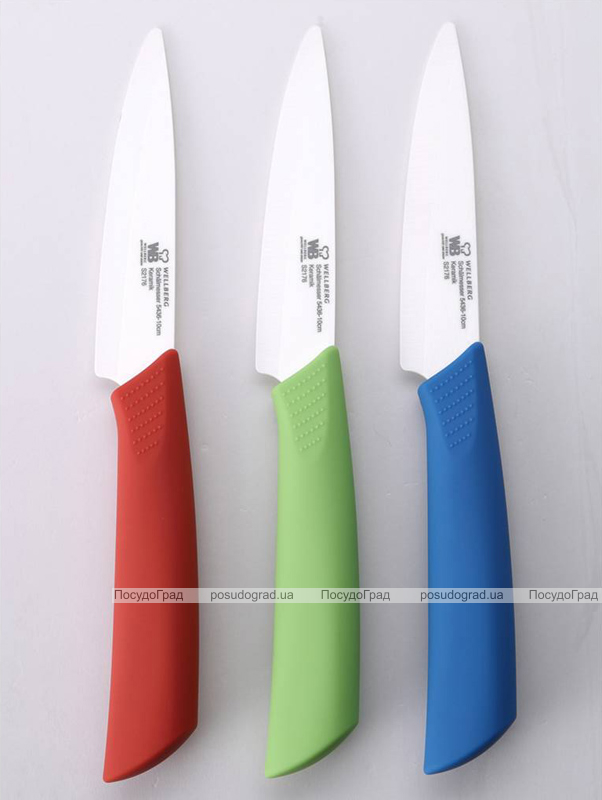 Нож керамический Wellberg Tsuba 10см для чистки овощей