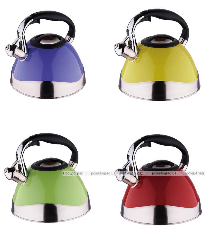 Чайник Wellberg Ergoria Colored 3 литра цветной