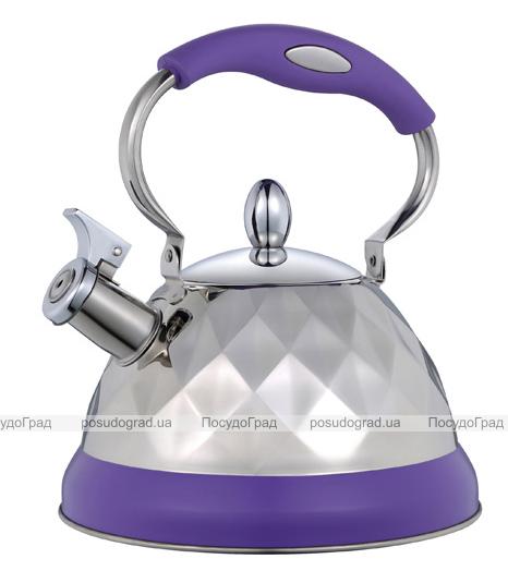 Чайник Wellberg Diamond-6142, 3 литра с прорезиненной ручкой