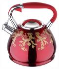 Чайник Wellberg Flame 2.7л индукционный, со свистком, красный