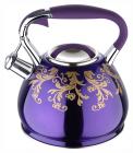 Чайник Wellberg Flame 2.7л индукционный, со свистком, фиолетовый