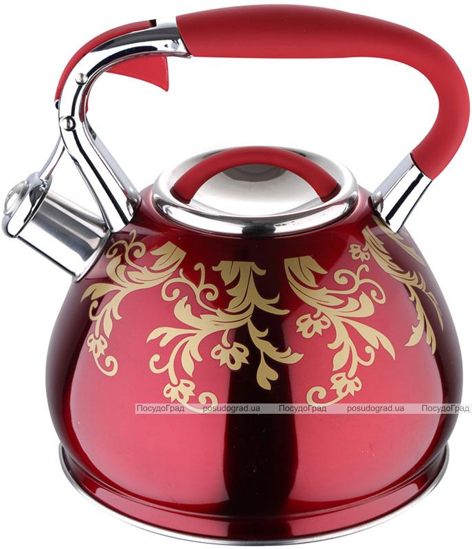 Чайник Wellberg Flame 4.5л индукционный, со свистком, красный