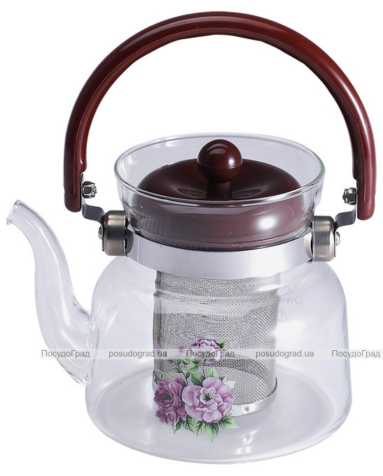 Чайник заварочный Wellberg Borosil 1100мл стеклянный