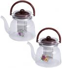 Чайник заварочный Wellberg Borosil 1400мл стеклянный